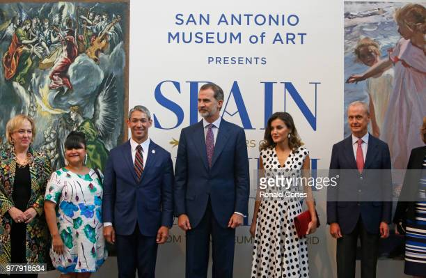 Katie Luber Director of the Museum Erica Prosper wife to San Antonio Mayor Ron Nirenberg mayor of San Antonio King Felipe VI of Spain Queen Letizia...