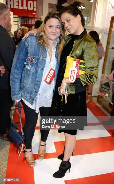 Katie Lyall and Charlotte Stockdale attend Hello Magazine's 30th anniversary party at Dover Street Market on May 9 2018 in London England