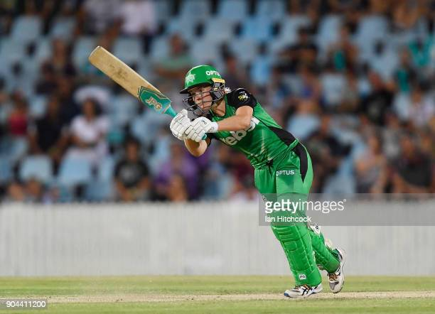 Katie Mack of the Stars bats during the Women's Big Bash League match between the Brisbane Heat and the Melbourne Stars on January 13 2018 in Mackay...