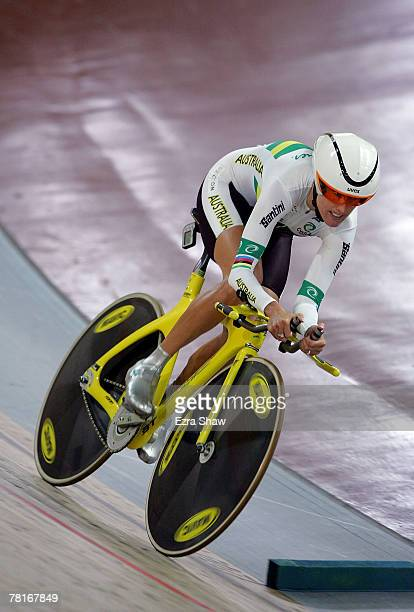 Katie Mactier of Australia competes in the women's individual pursuit qualifying during day one of the Sydney UCI World Cup Classics at The Dunc Gray...