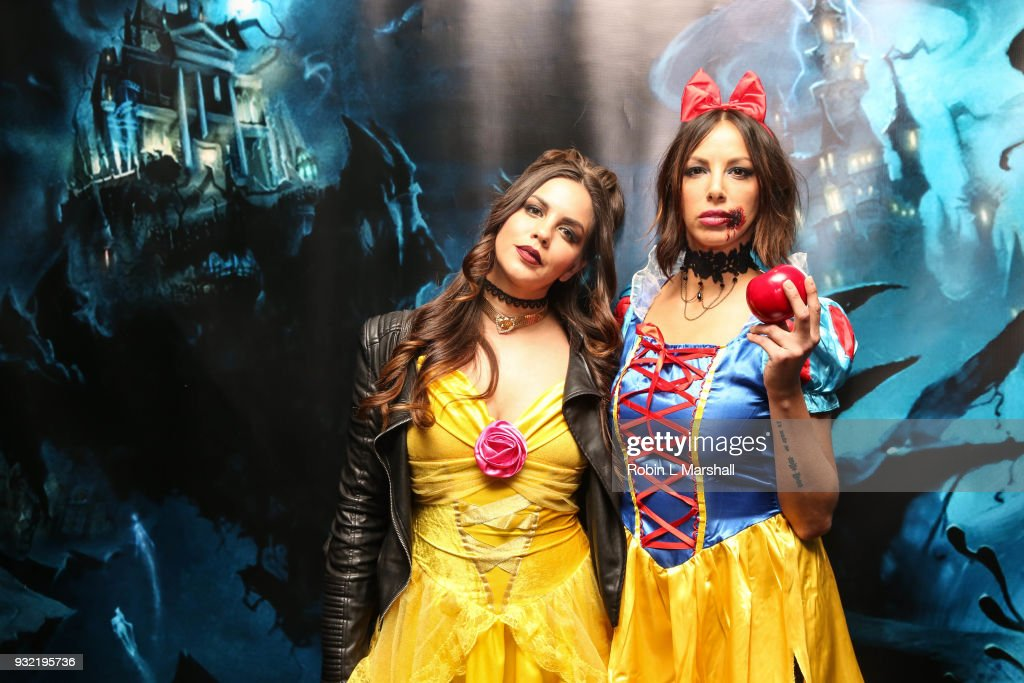 Katie Maloney and Kristen Doute of 'Vanderpump Rules' attend Kyle Chan's Dark Disney Birthday Party at Sofitel Hotel on March 14, 2018 in Los Angeles, California.