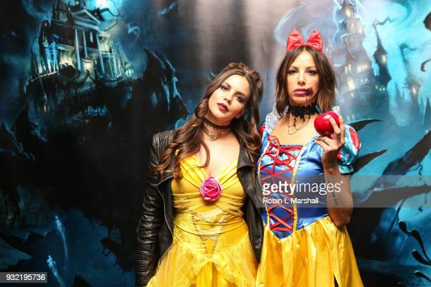 Katie Maloney and Kristen Doute of 'Vanderpump Rules' attend Kyle Chan's Dark Disney Birthday Party at Sofitel Hotel on March 14 2018 in Los Angeles...