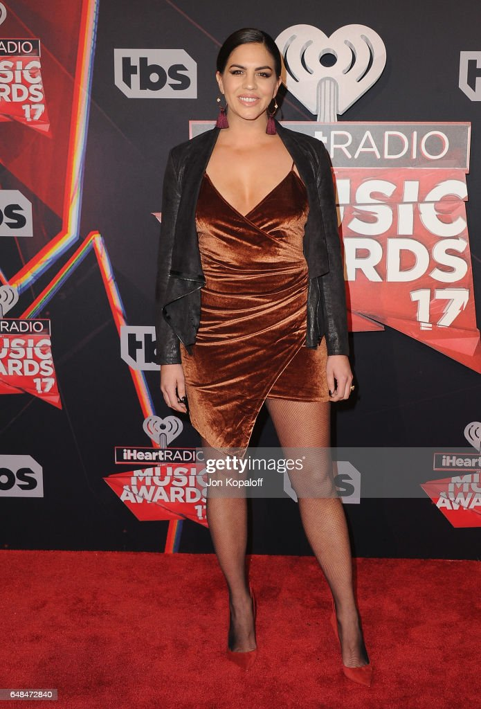 Katie Maloney arrives at the 2017 iHeartRadio Music Awards at The Forum on March 5, 2017 in Inglewood, California.