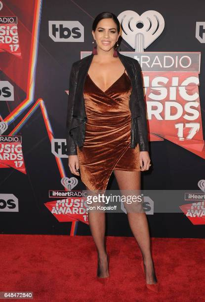 Katie Maloney arrives at the 2017 iHeartRadio Music Awards at The Forum on March 5 2017 in Inglewood California