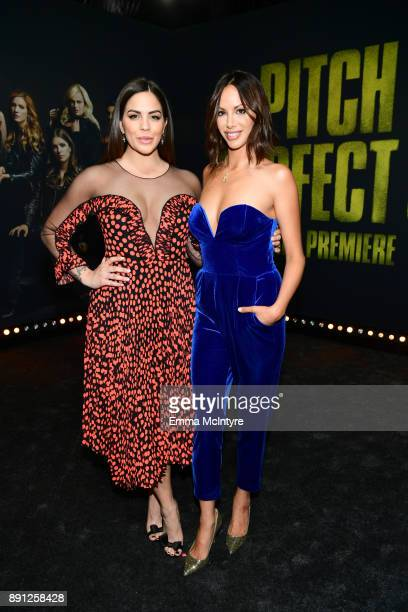 Katie MaloneySchwartz and Kristen Doute attend the premiere of Universal Pictures' 'Pitch Perfect 3' at Dolby Theatre on December 12 2017 in...