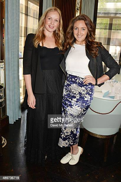 Katie Marshall and Natasha Corrett attend the 'Ladies Of Influence' lunch at Marcus restaurant at The Berkeley Hotel on May 12, 2014 in London,...
