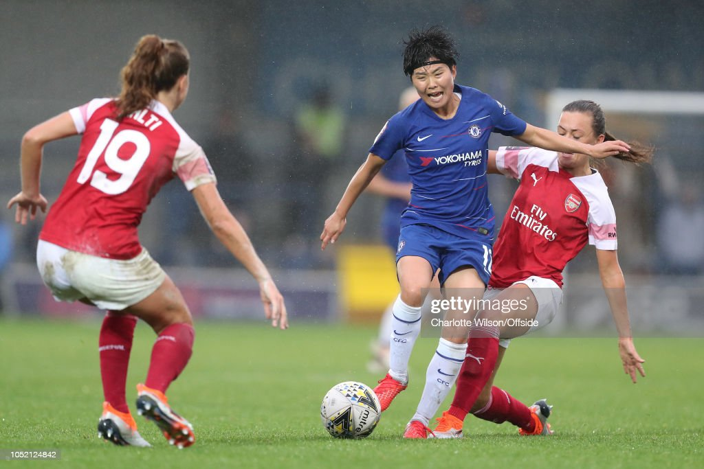 Katie McCabe Of Arsenal Could Ji So-Yun Of Chelsea During