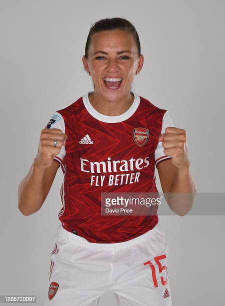 Katie McCabe of Arsenal during the Arsenal Women's Photocall at London Colney on August 12, 2020 in St Albans, England.