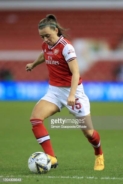 Katie McCabe of Arsenal in action during the FA Women's Continental League Cup Final between Chelsea FC Women and Arsenal FC Women at the City Ground...