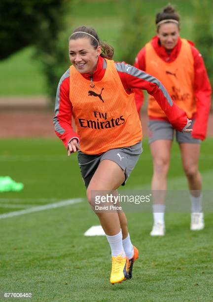 Katie McCabe of Arsenal Ladies during an Arsenal Ladies Training Session at London Colney on May 3 2017 in St Albans England
