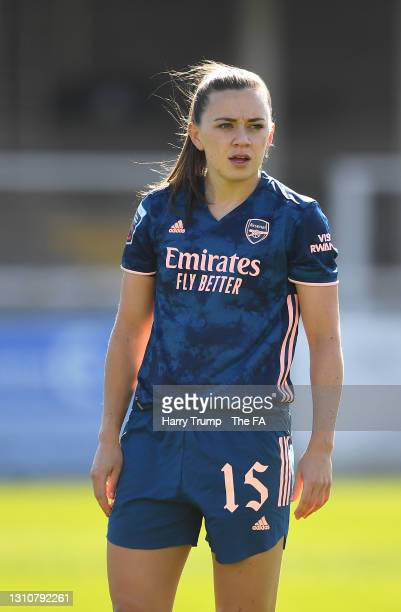Katie McCabe of Arsenal looks on during the Barclays FA Women's Super League match between Bristol City Women and Arsenal Women at Twerton Park on...