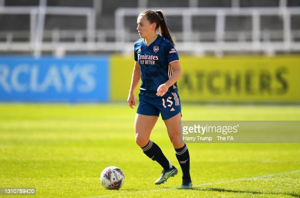 Katie McCabe of Arsenal runs with the ball during the Barclays FA Women's Super League match between Bristol City Women and Arsenal Women at Twerton...