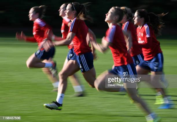 Katie McCabe of Arsenal Women during the Arsenal Womens 1st Team Training Session at London Colney on January 09 2020 in St Albans England