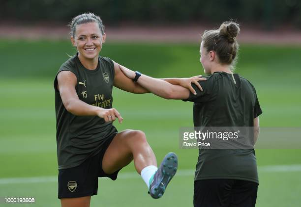 Katie McCabe of Arsenal Women during the Arsenal Womens Training Session at London Colney on July 16 2018 in St Albans England