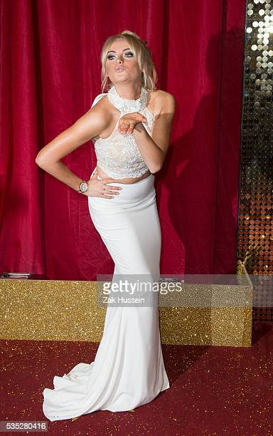Katie McGlynn arrives for British Soap Awards 2016 at Hackney Empire on May 28 2016 in London England