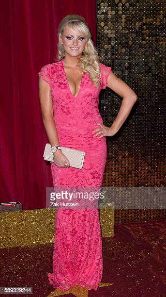 Katie McGlynn arriving at the British Soap Awards at the Manchester Palace Theatre in Manchester