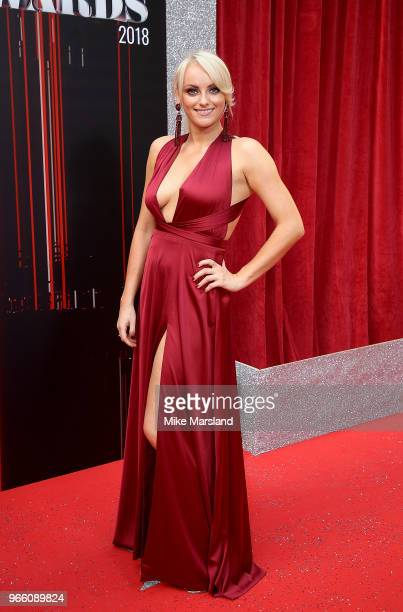 Katie McGlynn attends the British Soap Awards 2018 at Hackney Empire on June 2 2018 in London England