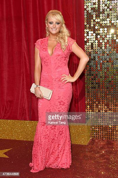Katie McGlynn attends the British Soap Awards at Manchester Palace Theatre on May 16 2015 in Manchester England