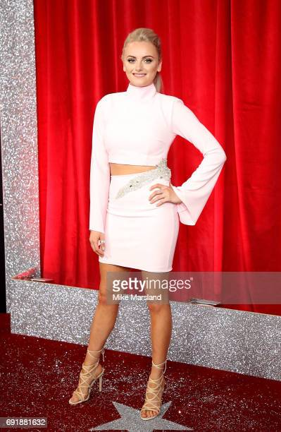 Katie McGlynn attends The British Soap Awards at The Lowry Theatre on June 3 2017 in Manchester England The Soap Awards will be aired on June 6 on...