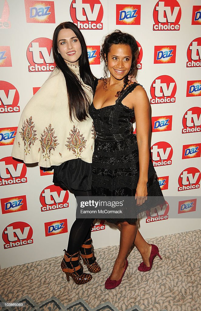 Katie McGrath (L) and Angel Coulby arrive at the TVChoice Awards 2010 held at The Dorchester on September 6, 2010 in London, England.