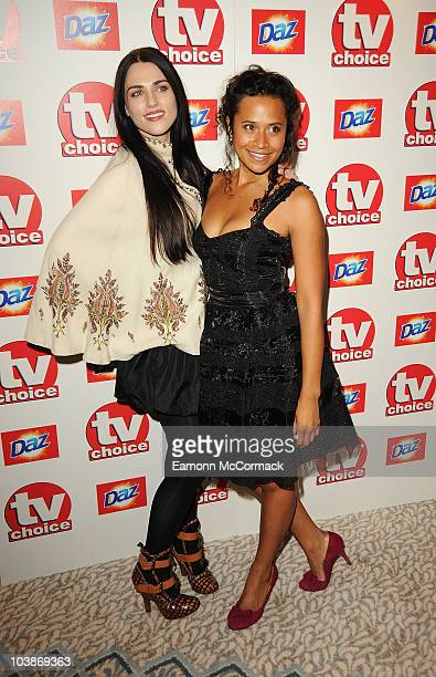Katie McGrath and Angel Coulby arrive at the TVChoice Awards 2010 held at The Dorchester on September 6 2010 in London England