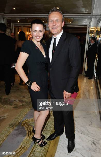 Katie McGrath and Anthony Head attend the TV Quick TV Choice Awards at The Dorchester on September 7 2009 in London England