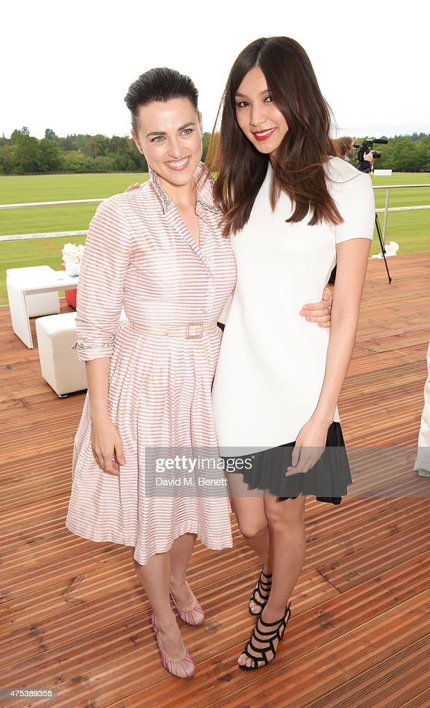 Katie McGrath (L) and Gemma Chan attend day two of the Audi Polo Challenge at Coworth Park on May 31, 2015 in London, England.