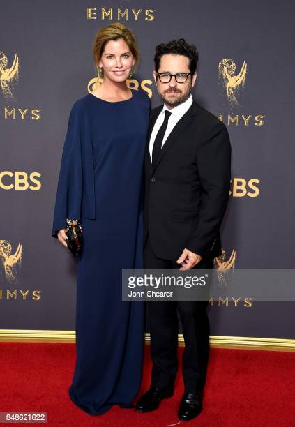 Katie McGrath and writerproducerdirector JJ Abrams attend the 69th Annual Primetime Emmy Awards at Microsoft Theater on September 17 2017 in Los...