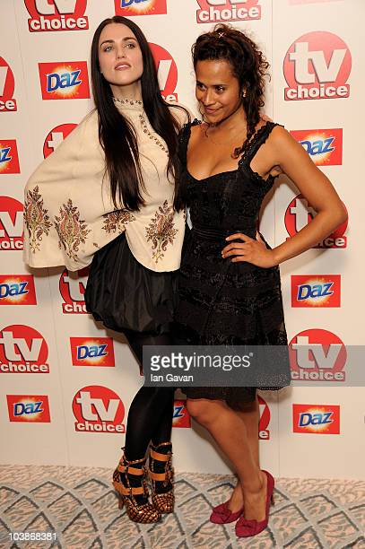 Katie McGrath Angel Coulby arrives at the TV Choice Awards 2010 at The Dorchester on September 6 2010 in London England