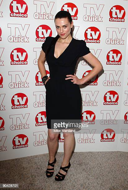 Katie McGrath attends the TV Quick Tv Choice Awards at The Dorchester on September 7 2009 in London England