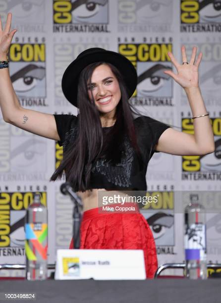 Maisie RichardsonSellers speaks onstage at the'DC's Legends Of Tomorrow' Special Video Presentation and QA during ComicCon International 2018 at San...