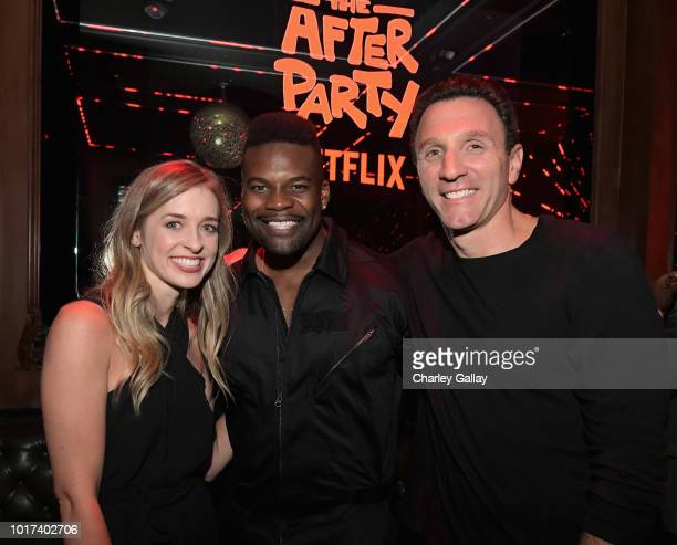 Katie McNeil Amin Joseph and Ian Edelman attend Netflix's 'The After Party' special screening on August 15 2018 in Los Angeles California