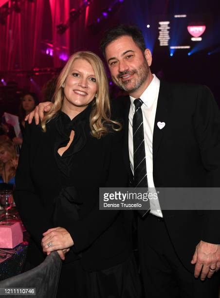 Katie McNeil and Jimmy Kimmel attend the 24th annual Keep Memory Alive 'Power of Love Gala' benefit for the Cleveland Clinic Lou Ruvo Center for...
