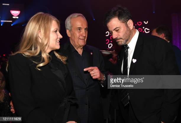 Katie McNeil Larry Ruvo and Jimmy Kimmel attend the 24th annual Keep Memory Alive 'Power of Love Gala' benefit for the Cleveland Clinic Lou Ruvo...