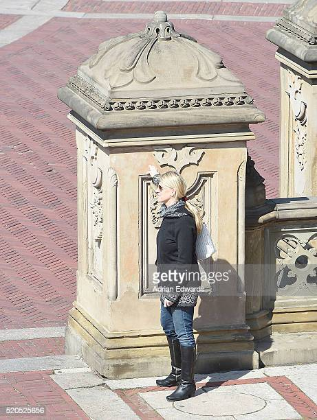Katie McNeil wife of Neil Diamond is seen out in Central Park on April 11 2016 in New York City