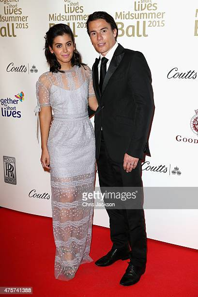 Katie Melua And James Toseland Arrive For The Together Short Lives Midsummer Ball At Banqueting