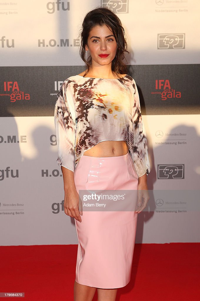 Katie Melua arrives for the IFA 2013 Consumer Technology Trade Fair Opening Gala at Messe Berlin on September 5, 2013 in Berlin, Germany.