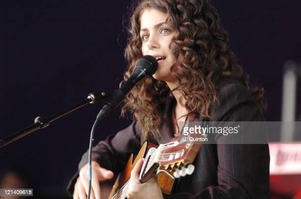 Katie Melua during Guilfest 2004 Day Two July 17 2004 at Stoke Park in Guilford Great Britain