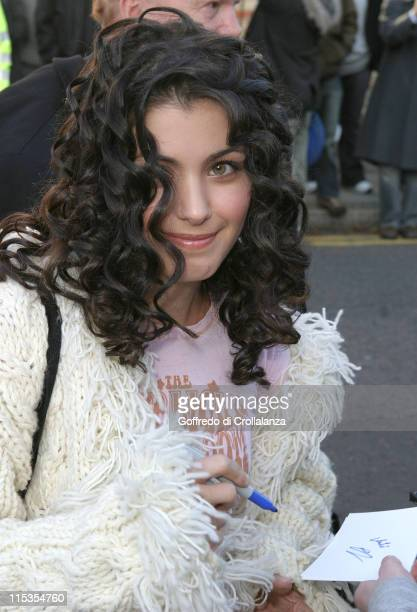 Katie Melua during New Band Aid 2 Recording of 'Do They Know It's Christmas' at Air Studios November 14 2004 at Air Studios Lyndhurst Road in London...