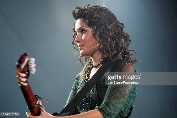 Katie Melua performing at the Wembley Arena on December 3rd 2006 in London, England.