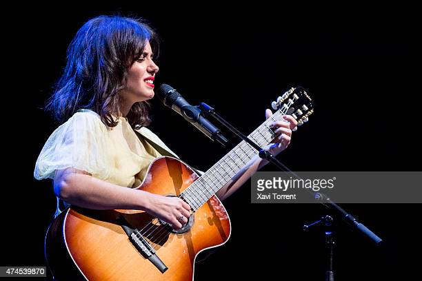 Katie Melua performs on stage at Gran Teatre del Liceu on May 23 2015 in Barcelona Spain