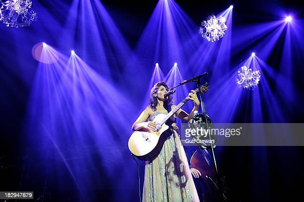 Katie Melua performs on stage at The Roundhouse on October 2 2013 in London England