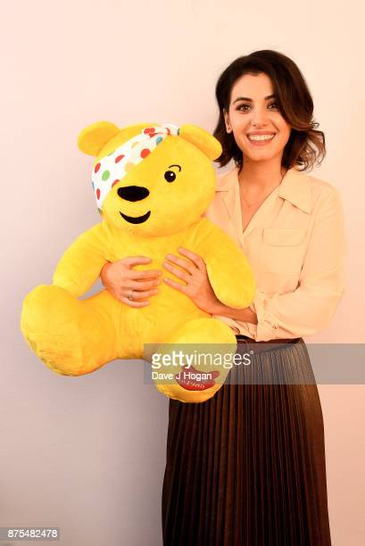 Katie Melua shows support for BBC Children in Need at Elstree Studios on November 17 2017 in Borehamwood England