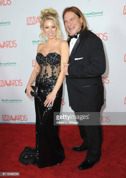 Katie Morgan and Evan Stone attend the 2018 Adult Video News Awards held at Hard Rock Hotel Casino on January 27 2018 in Las Vegas Nevada