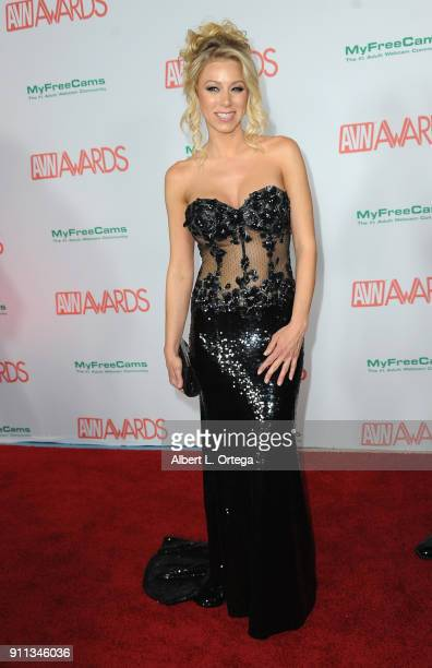 Katie Morgan attends the 2018 Adult Video News Awards held at Hard Rock Hotel Casino on January 27 2018 in Las Vegas Nevada