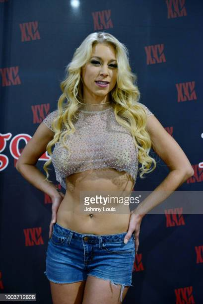 Katie Morgan attends the EXXXOTICA Expo 2018 at Miami Airport Convention Center on July 21 2018 in Miami Florida