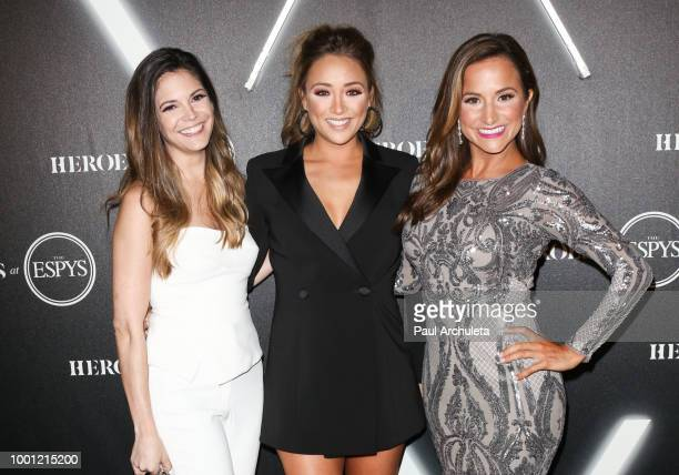 Katie Nolan Cassidy Hubbarth and Dianna Russini attend the ESPN's HEROES At THE ESPYS official preparty at City Market Social House on July 17 2018...