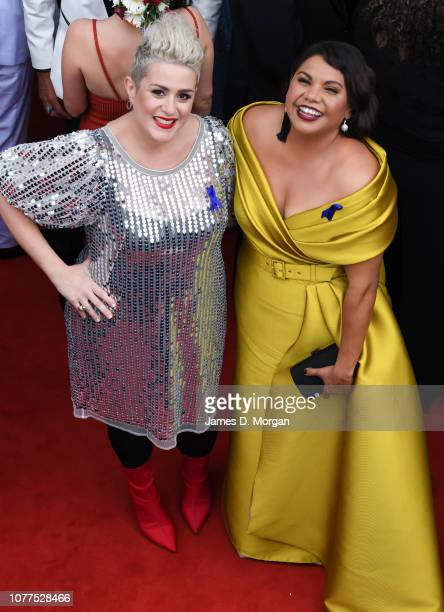 Katie Noonan and Deborah Mailman attend the 2018 AACTA Awards Presented by Foxtel at The Star on December 05, 2018 in Sydney, Australia.