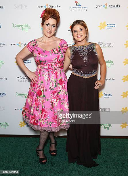 Katie Noonan and Sam Buckingham arrive at The Emeralds and Ivy Ball at Sydney Town Hall on October 10 2014 in Sydney Australia