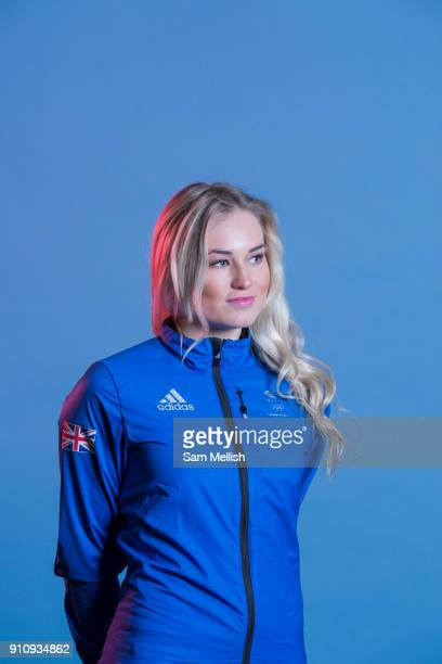 Katie Ormerod during GB Park Pipe Winter Olympic official Adidas kitting out day on 24th January 2018 in Stockport United Kingdom
